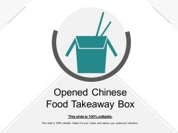 Opened Chinese Food Takeaway Box