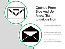 Opened From Side And Up Arrow Sign Envelope Icon
