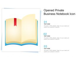 Opened Private Business Notebook Icon