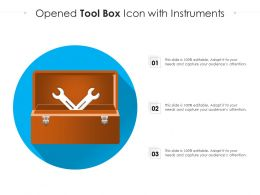 Opened Tool Box Icon With Instruments