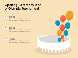 Opening Ceremony Icon Of Olympic Tournament