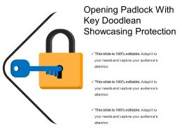 Opening Padlock With Key Doodlean Showcasing Protection1
