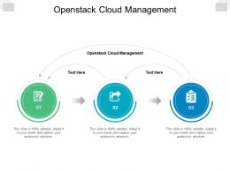 Openstack Cloud Management Ppt Powerpoint Presentation Ideas Graphic Images Cpb