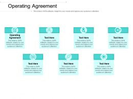Operating Agreement Ppt Powerpoint Presentation Ideas Pictures Cpb