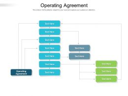 Operating Agreement Ppt Powerpoint Presentation Model Demonstration Cpb