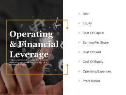 Operating And Financial Leverage Ppt Model