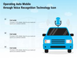 Operating Auto Mobile Through Voice Recognition Technology Icon