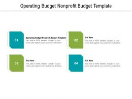 Operating Budget Nonprofit Budget Template Ppt Powerpoint Presentation Summary Gridlines Cpb