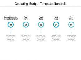Operating Budget Template Nonprofit Ppt Powerpoint Presentation Portfolio Display Cpb