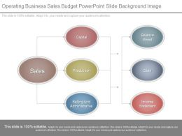 Operating Business Sales Budget Powerpoint Slide Background Image