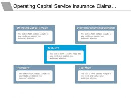 Operating Capital Service Insurance Claims Management Increase Revenue Cpb
