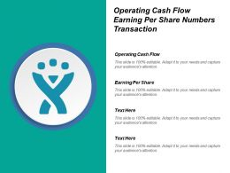 Operating Cash Flow Earning Per Share Numbers Transaction