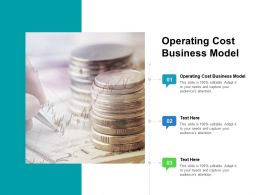 Operating Cost Business Model Ppt Powerpoint Presentation Inspiration Aids Cpb