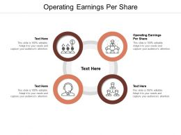 Operating Earnings Per Share Ppt Powerpoint Presentation Icon Vector Cpb