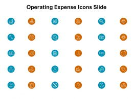 Operating Expense Icons Slide Currency Ppt Powerpoint Presentation Icon Master