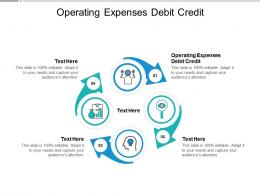 Operating Expenses Debit Credit Ppt Powerpoint Presentation Model Sample Cpb