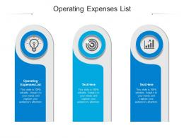 Operating Expenses List Ppt Powerpoint Presentation Infographic Template Ideas Cpb