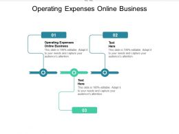 Operating Expenses Online Business Ppt Powerpoint Presentation Layouts Slide Portrait Cpb