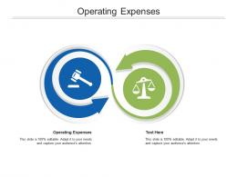 Operating Expenses Ppt Powerpoint Presentation File Designs Cpb