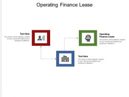 Operating Finance Lease Ppt Powerpoint Presentation Professional Show Cpb