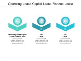 Operating Lease Capital Lease Finance Lease Ppt Powerpoint Presentation Infographics Cpb