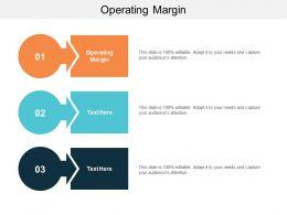 Operating Margin Ppt Powerpoint Presentation Gallery Design Inspiration Cpb