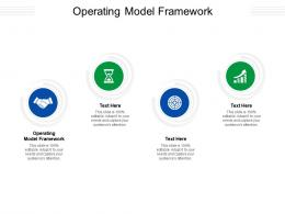 Operating Model Framework Ppt Powerpoint Presentation Icon Clipart Cpb