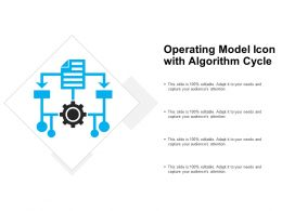 Operating Model Icon With Algorithm Cycle