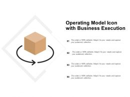 Operating Model Icon With Business Execution
