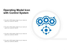 Operating Model Icon With Control System