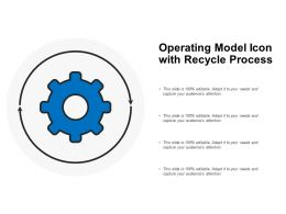 Operating Model Icon With Recycle Process