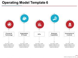 Operating Model Template 6 Ppt Summary Icons