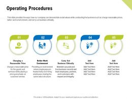 Operating Procedures Business Ethically Ppt Powerpoint Presentation Inspiration