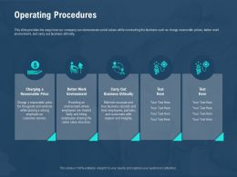 Operating Procedures Integrity M2589 Ppt Powerpoint Presentation Gallery Graphics