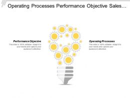 Operating Processes Performance Objective Sales Revenue Volume Output