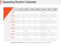 Operating Rhythm Calendar