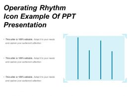 Operating Rhythm Icon Example Of Ppt Presentation