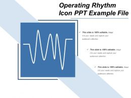 Operating Rhythm Icon Ppt Example File