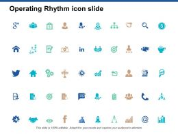 Operating Rhythm Icon Slide Portfolio Ppt Powerpoint Presentation Layouts Format
