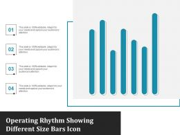 Operating Rhythm Showing Different Size Bars Icon