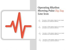 Operating Rhythm Showing Pulse Zig Zag Line Icon