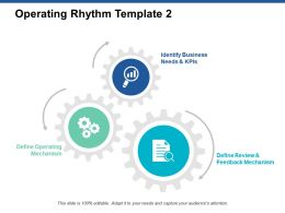 Operating Rhythm Template Gears Ppt Powerpoint Presentation Layouts Layout Ideas