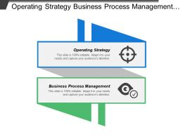 Operating Strategy Business Process Management Integrated Information Services