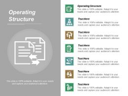 Operating Structure Ppt Powerpoint Presentation Diagram Templates Cpb