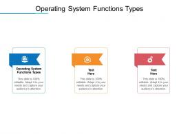 Operating System Functions Types Ppt Powerpoint Presentation File Templates Cpb