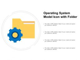 Operating System Model Icon With Folder