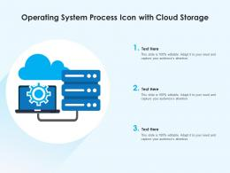 Operating System Process Icon With Cloud Storage