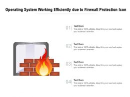 Operating System Working Efficiently Due To Firewall Protection Icon