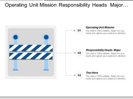 Operating Unit Mission Responsibility Heads Major Social Responsibility