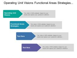 Operating Unit Visions Functional Areas Strategies Business Level Strategic